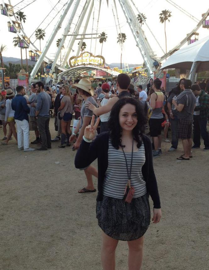 Me at Coachella. Best time ever!